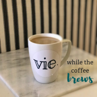While the Coffee Brews: A New Vie Series to get you through Monday's